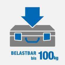 Belastbar bis 100kg